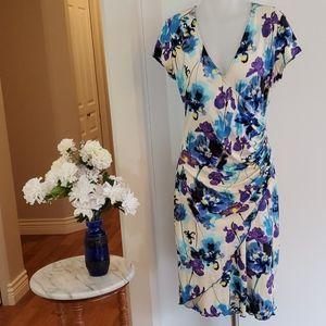 Joseph Ribkoff Floral Summer Dress sz 10